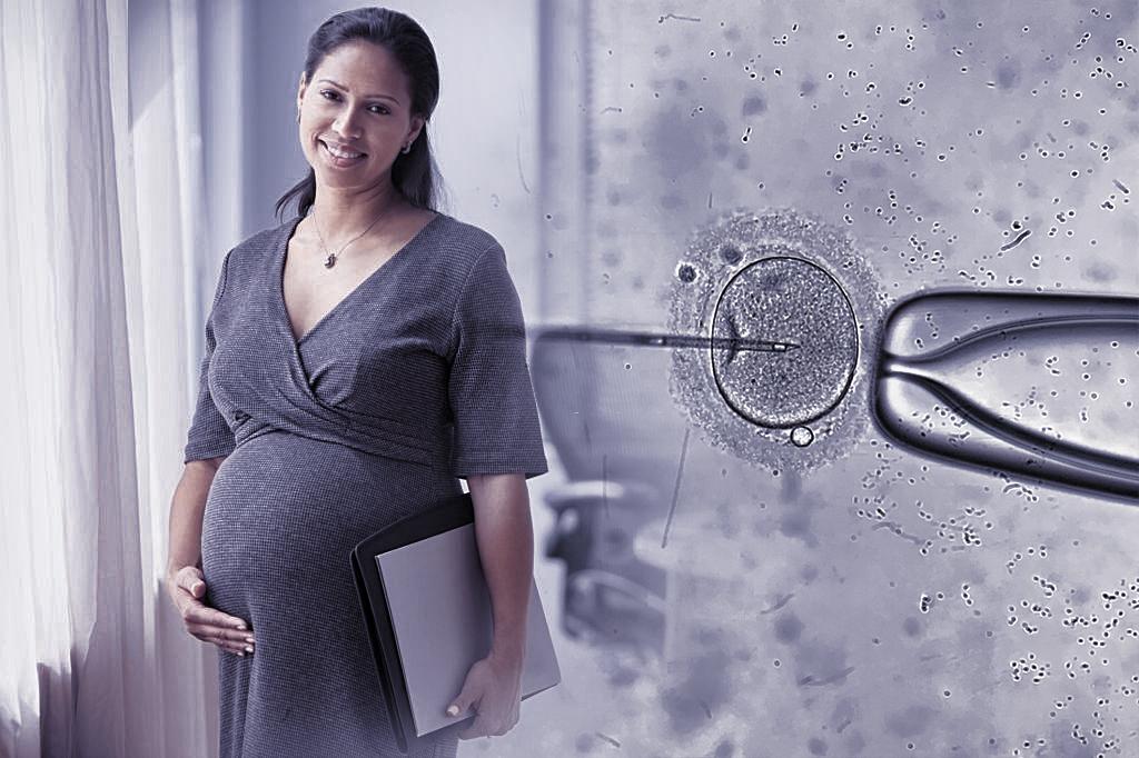 الحمل الطبيعي بعد الحقن المجهري